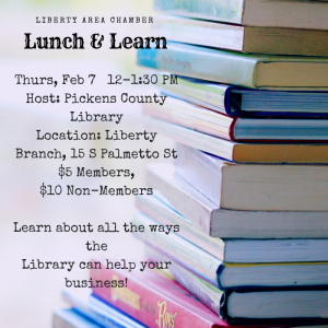 Liberty Area Chamber Lunch & Learn Feb 7, 2019